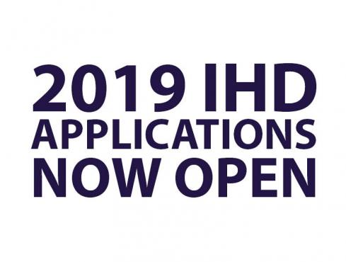 2019 IHD Applications Now Open